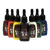 Kuro Sumi Colors Tattoo Ink - Master SET of 7 BEST Sellers 1/2 oz