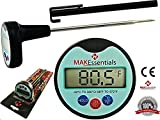 Best Instant Read Meat Thermometer for BBQ/Grill/meat/cooking from MAK Essentials - offers easy and accurate digital display; battery included. Turn your cooking skills to perfection with little effort and LIFETIME GUARANTEE!