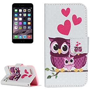 Crazy4Gadget For iPhone 7 Painting The Owl Family Pattern Horizontal Flip Leather Case with Holder & Card Slots & Wallet