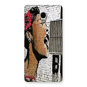 Impressive Girl Singing Wall Back Case Cover for Lenovo Vibe P1