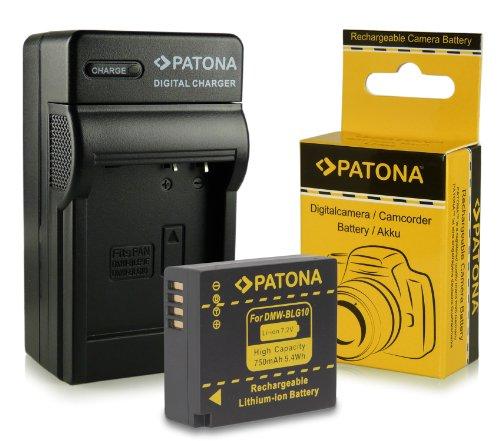 Chargeur + Batterie DMW-BLG10 DMW-BLG10E pour Panasonic Lumix DMC-GF6 | Lumix DMC-GX7 et bien plus encore... [ Li-ion; 750mAh; 7.2V ]