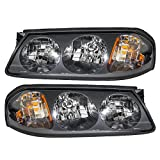 Driver and Passenger Headlights Headlamps Replacement for Chevrolet 10349961 10349962