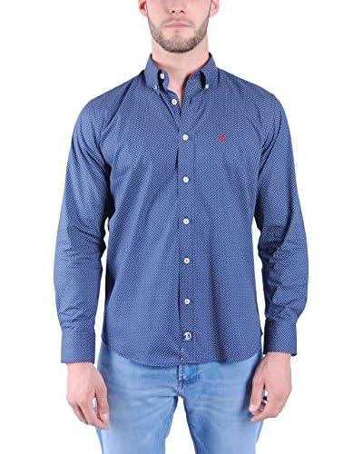 TIME OF BOCHA Camicia Uomo Blu Scuro XS (FR 1)