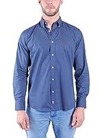 TIME OF BOCHA Camisa Hombre (Azul Oscuro)