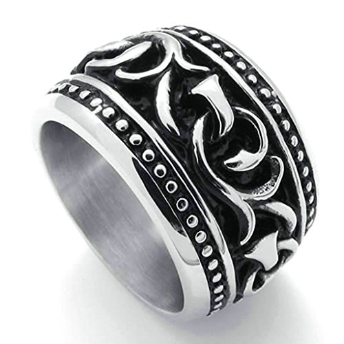 daesar-stainless-steel-rings-mens-wedding-bands-silver-black-rings-men-rings-branch-pattern-rings-uk