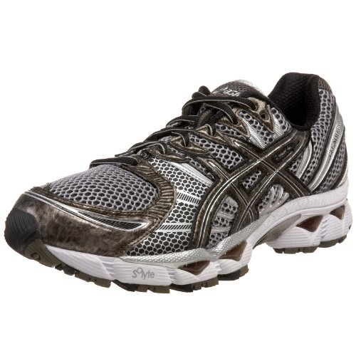 ASICS Men's GEL-Nimbus 12 Running Shoe,Black/Caviar/Lightning,9.5 M US
