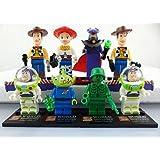 8pcs TOY STORY Jessie Woody Buzz Lightyear Custom Minifigure DIY Building Block