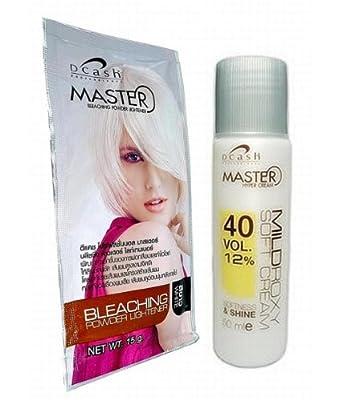 Hair Bleaching Lightening Powder Kit Platinum White by Dcash Master