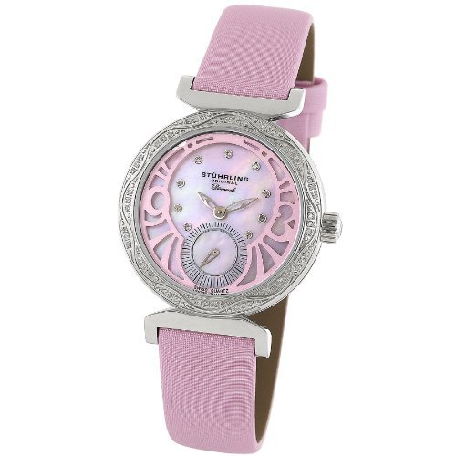 Stuhrling Original Women's 504.1215A9 Soiree Swiss Quartz Mother of Pearl Dia...