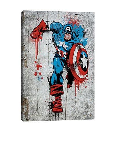Marvel Comics Gallery Captain America Spray Paint Canvas Print