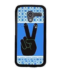 PRINTVISA V for Victry Premium Metallic Insert Back Case Cover for Motorola Moto X - D5927