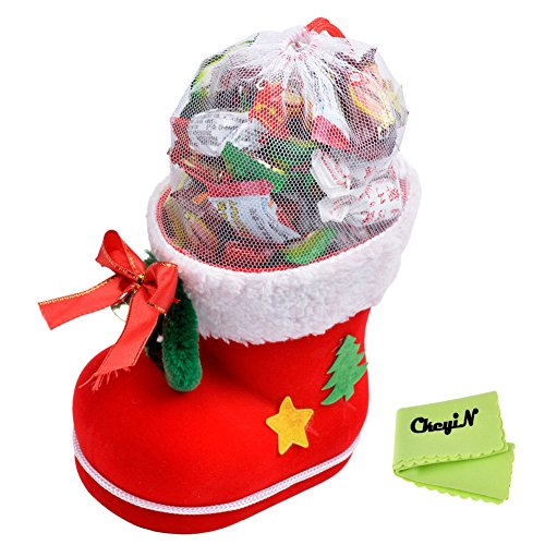 ( ckeyin ) クリスマスブーツ  クリエイティブギフト  レッド ((大))