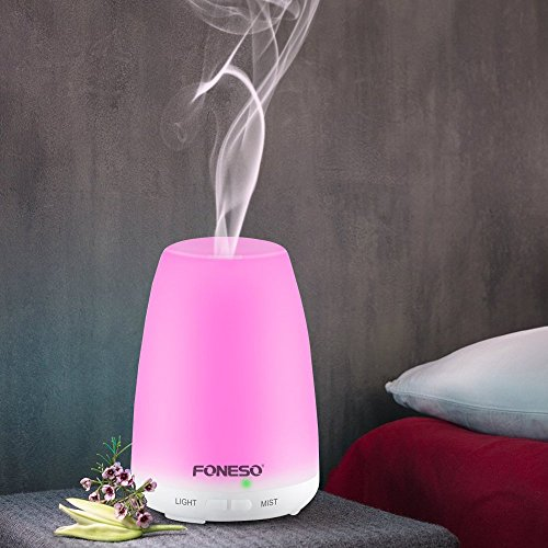 100ml foneso essential oil diffuser ultrasonic aromatherapy cool mist humidifier whisper quiet - Toddler flashlight auto shut off ...