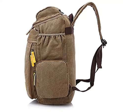 cooler extra gro herren damen unisex vintage canvas rucksack retro rucksack vintage f r. Black Bedroom Furniture Sets. Home Design Ideas