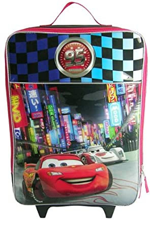 Disney Cars Neon Rolling Luggage, Black, One Size