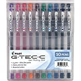 Pilot G-Tec-C Gel Rolling Ball Pens, Ultra Fine Point, Assorted Colors, 10-Pack Pouch (35484)