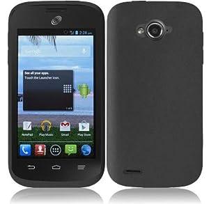 For ZTE Savvy Z750C Silicone Jelly Skin Cover Case (Black)