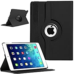 NC iPad Air 2 360 Degree Case cover, Smart PU Leather Stand Flip Case Cover For APPLE iPAD Air 2 iPad 6, Guaranteed Quality!!!! Black