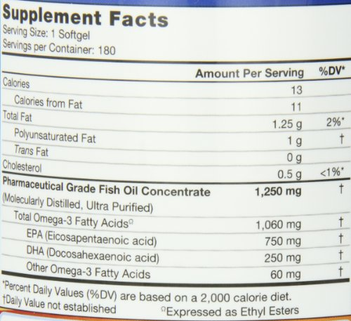 Nutrigold Triple Strength Omega-3 Gold Fish Oil Supplement, 2100 mg, 180 Softgels