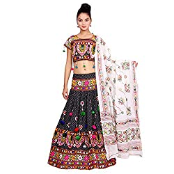 Black Lehenga Choli Dupatta Set for Women ( Banjara Dress )