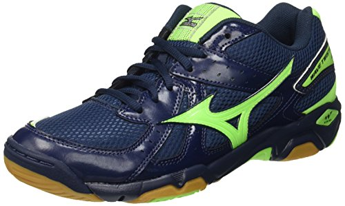 Mizuno - Wave Twister, Scarpe da pallavolo Uomo, Blu (Blue (Dress Blues/Green Gecko/Dress Blues)), 40 1/2