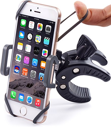 Bike & Motorcycle Phone Mount - For iPhone 7 (5, 6, 6s Plus), Samsung Galaxy or any Cell Phone - Universal ATV, Mountain, City & Road Bicycle Handlebar Holder. +100 to Safeness & Comfort (Motorcycle Suzuki Accessories compare prices)