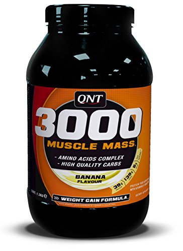 QNT 3000 1300 g Banana Muscle Size and Weight Gain Shake Powder