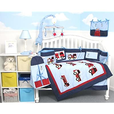 Fireman Themed Crib Bedding