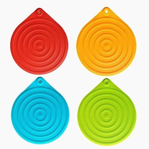 ineibo-dessous-de-plat-casserol-tapis-en-silicone-multiusage-un-ensemble-de-4-dessous-de-plat-ronds-