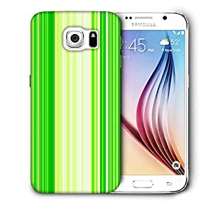 Snoogg Green Strips Printed Protective Phone Back Case Cover For Samsung Galaxy S6 / S IIIIII