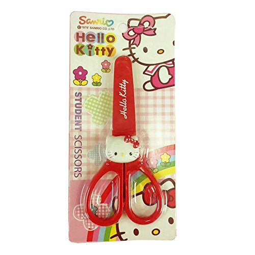 Hello-Kitty-Art-Craft-Scissors-Student-Safety-Scissors-Lovely-Collection-Safe-for-Kids-Red
