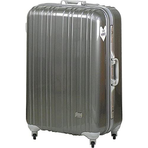 TSAロック スーツケース SPALDING モデル0614 ≪シルバーグレー≫ 大型 Lサイズ 73cm 5.9kg 103リットル 8泊以上 スポルディング ポリカーボネイト100% ハード キャリー