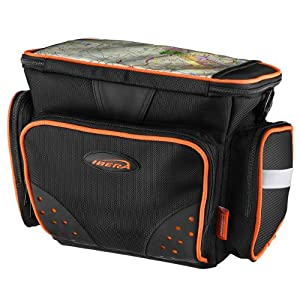 Ibera All Weather Map Sleeve Clip-On Quick-Release Bicycle Handlebar Bag, Padded... by IBERAUSA