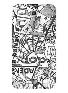 Gobzu Printed Designer Hard Case Back Cover for Lenovo Zuk Z1 - Abstract Triangle Mural