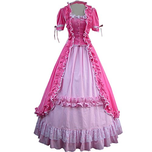 Partiss Women Lace Ruffles Gothic Victorian Fancy Dress Costumes