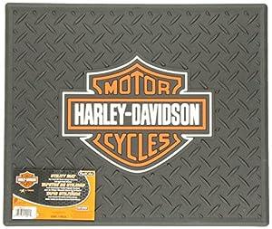 "PlastiColor 1002 Large Harley-Davidson Logo Molded 14"" x 16.25"" Utility Mat"