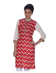 Niine By Niine Women's Cotton Kurta (NNT671-Multi-Color)