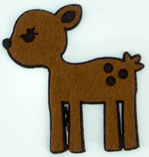 Cute Deer Cartoon Diy Applique Embroidered Sew Iron On Patch