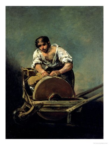 The Knife-Grinder, 1808-12 Giclee Print Art (18 x 24 in)