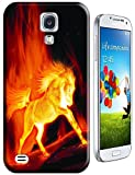 The Hallowmas Gift With Beautiful Fire Flowers Horses Dragon Nice Fashion Cell Phone Cases Design Special For Samsung Galaxy S4 i9500 No.6