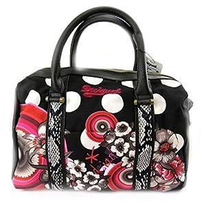 designer tasche 39 desigual 39 schwarz wei rot koffer rucks cke taschen. Black Bedroom Furniture Sets. Home Design Ideas