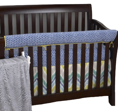 Cotton Tale Designs Front Crib Rail Cover Up Set, Zebra Romp