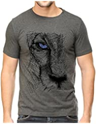 IndieMonk Men's Graphic Printed T-Shirt - Lion