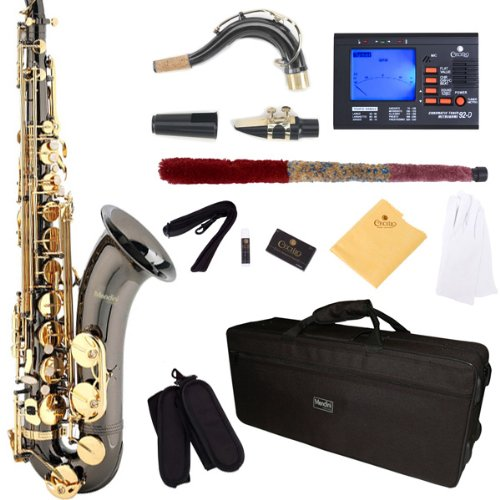 mendini-by-cecilio-mts-bng-92d-black-nickel-plated-and-gold-keys-b-flat-tenor-saxophone-with-tuner-c