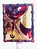 Continental Art Center NL9502 Hand Painted Glass with Night Light Wine Glass with, 5.2 by 5.6 by 1.6-Inch