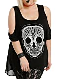 Black Crochet Skull Top Plus Size
