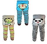 [backbuy] 3pantalones 0-24meses bebé niños pantalones de Leggings de punto pantalones b5b6C4 Talla:0-12 Months