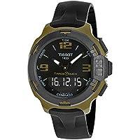 Tissot T-Race Touch Aluminum Black Silicon Strap Mens Sports Quartz Watch (Black Dial)