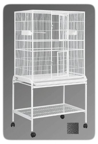 HQ 13221bk 32 in. x 21 in. Single Aviary with Cart Stand - B