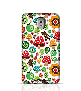 Stylebaby Musroom Autumn Deer And Apple Pattern Samsung Galaxy Note 4 Phone Case